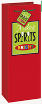 Christmas Spirits Bottle Gift Bag
